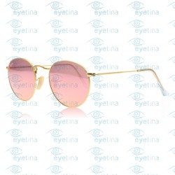 Round Metal - Gold - Brown Mirror Pink | Col112/Z2